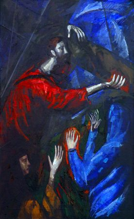 4th Station of the Cross, Jesus meets His Mother Stock Photo - 10004964