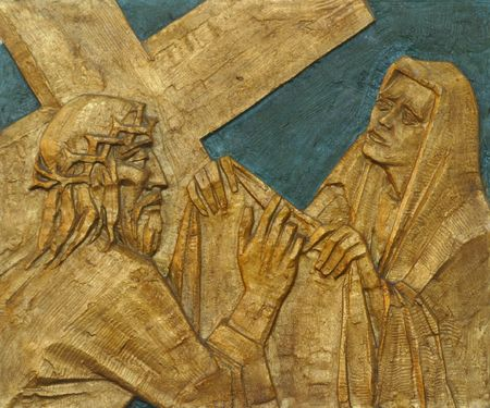 6th Station of the Cross - Veronica wipes the face of Jesus photo