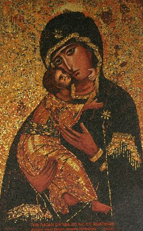 madonna: Icon of Madonna. Gift from Greece to Basilica of the Annunciation