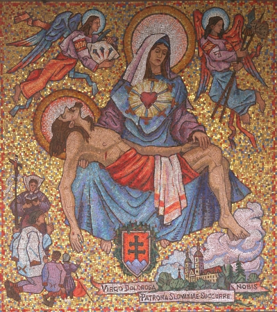 holy mary: Icon of Madonna  Gift from Slovakia to Basilica of the Annunciation
