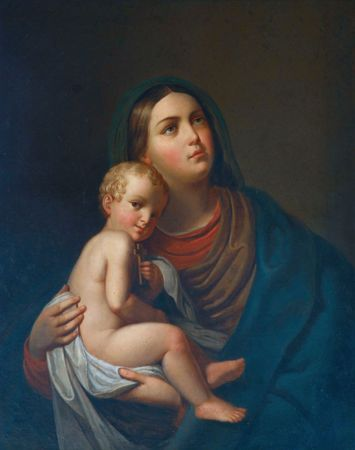 mary and jesus: Blessed Virgin Mary with baby Jesus Editorial