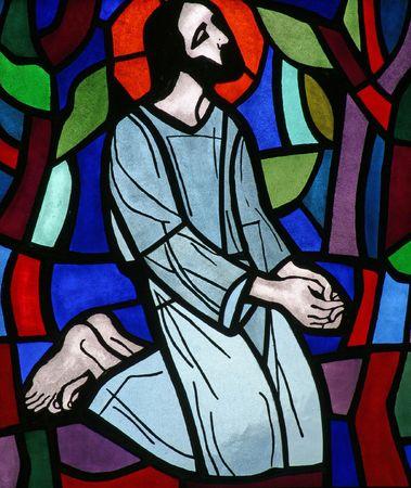 cruz de jesus: 10 estaciones de la Cruz, Jes�s es despojado de sus prendas de vestir  Foto de archivo