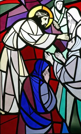 8th Stations of the Cross, Jesus meets the daughters of Jerusalem Stock Photo - 6580456