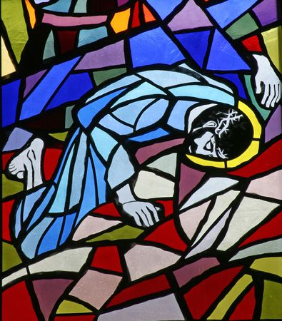 artistic jesus: 9th Stations of the Cross, Jesus falls the third time
