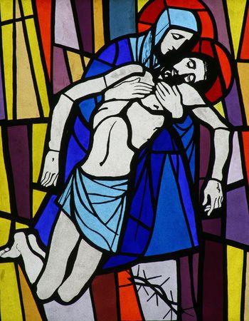 usunięta: 13th drogi krzyżowej, Jezusa ciaÅ'o jest usuwany z Krzyża Zdjęcie Seryjne