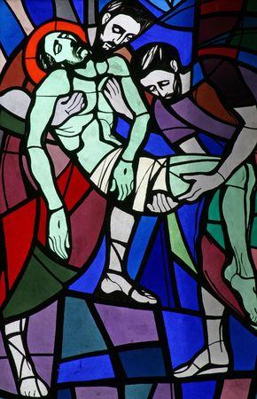 14th: 14 estaciones de la Cruz, Jes�s es colocada en la tumba y cubierto de incienso