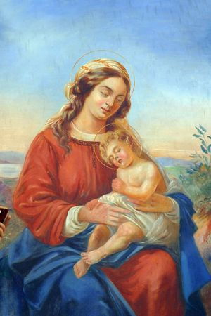 Blessed Virgin Mary with baby Jesus Stock Photo - 6580472
