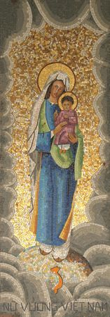 Icon of Madonna. Gift from Vietnam to Basilica of the Annunciation Stock Photo - 6580496