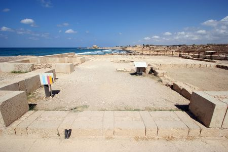 Ancient city Caesarea from Israel photo