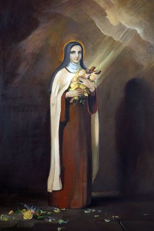 Saint Therese of Lisieux, painting at the church altar Stock Photo - 10004996