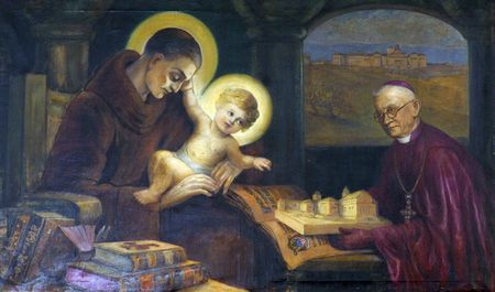 Saint Anthony of Padua, painting at the church altar Stock Photo - 10004995
