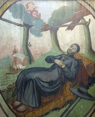 Saint Francis Xavier, painting at the church altar Stock Photo - 10004993