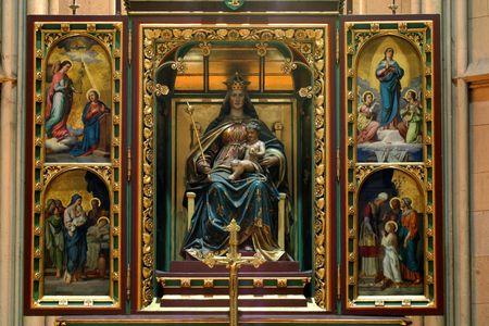 virgin women: Altar of the Blessed Virgin Mary Editorial