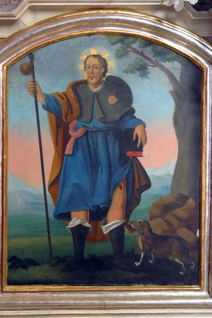 Saint Roch, painting at the church altar Stock Photo - 10004894