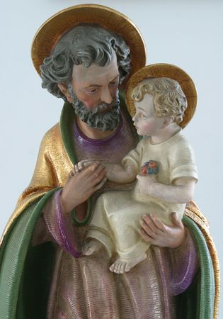 Saint Joseph with child Jesus Stock Photo - 6797737