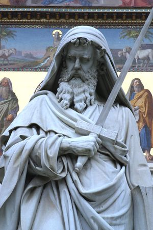 apostle paul: Statue of apostle St Paul  Stock Photo
