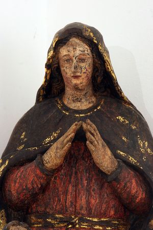 vaderlijk: Heilige Maagd Maria Stockfoto
