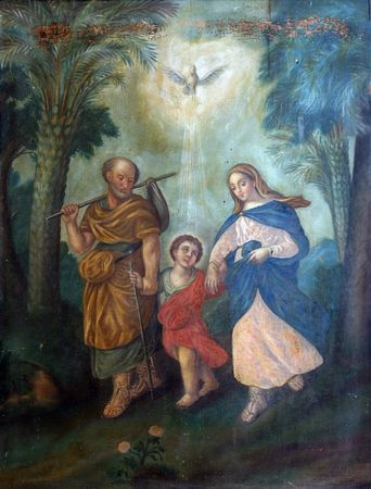 abbey: Holy Family  Stock Photo