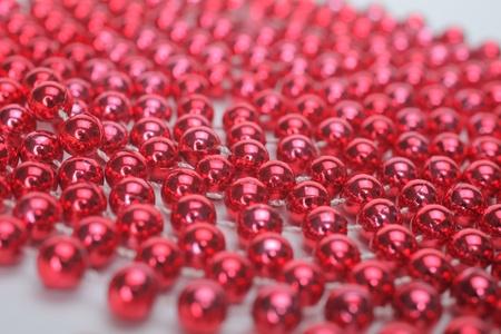 Red Mardi Beads  photo