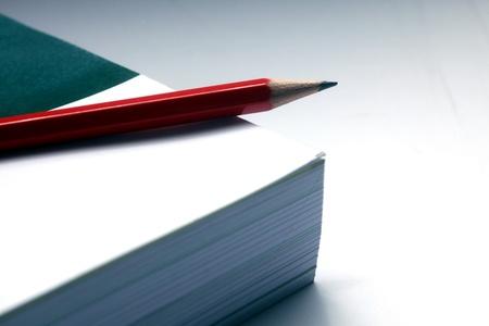 Pencil on white book Stock Photo - 8475995