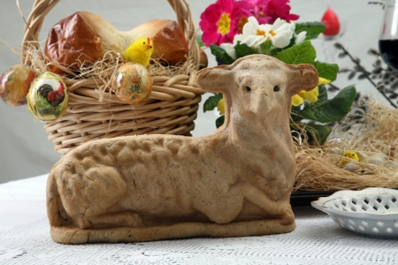 Easter lamb cake photo