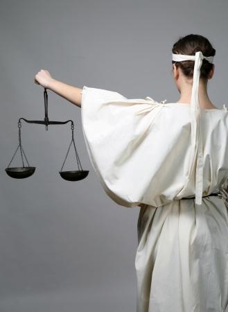 orden judicial: Justicia de Lady Foto de archivo