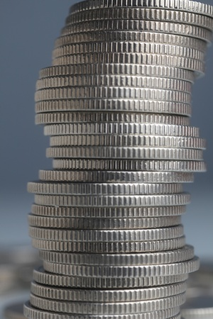 Stacks of money coins photo