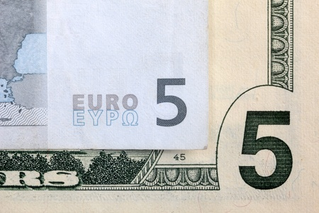5 euros and 5 dollars photo