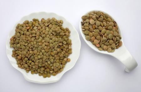 Green Lentils (lens culinaris) photo