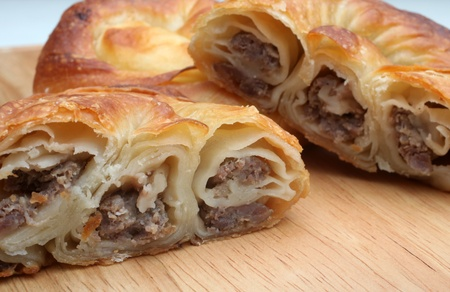 balkan: Burek (pie with meat) is traditional Balkanian meal