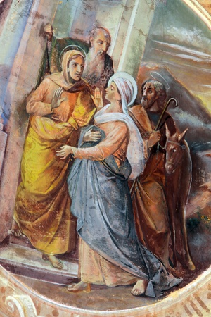 Visitation of the Blessed Virgin Mary  Stock Photo - 9479570