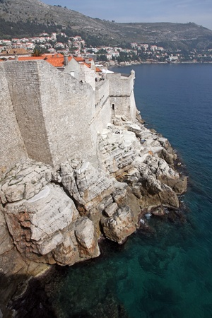 Dubrovnik city walls photo