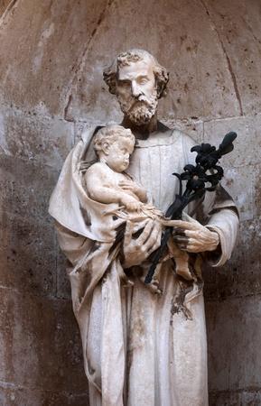 Saint Joseph, Dubrovnik cathedral  Stock Photo - 9781854