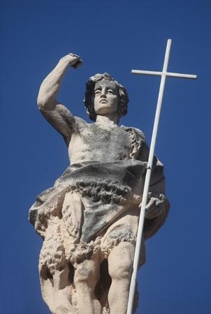 john the baptist: Dubrovnik cathedral - st. John the Baptist Stock Photo