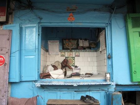 KOLKATA, INDIA -JANUARY 25: Streets of Kolkata. notary sitting in his office and waits for a customer , January 25, 2009.