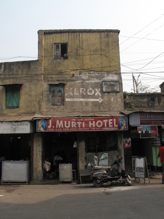 KOLKATA, INDIA -JANUARY 23: Streets of Kolkata. J. Murti Hotel, January 23, 2009.