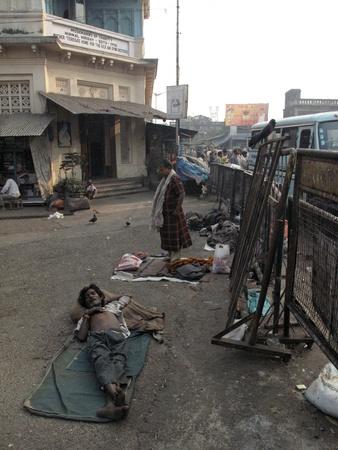 disadvantaged: KOLKATA, INDIA -JANUARY 24: Streets of Kolkata. Thousands of beggars are the most disadvantaged castes living in the streets, January 24, 2009. Editorial