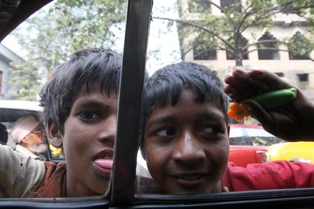 disadvantaged: KOLKATA, INDIA -JANUARY 23: Streets of Kolkata. Thousands of beggars are the most disadvantaged castes living in the streets, January 23, 2009.