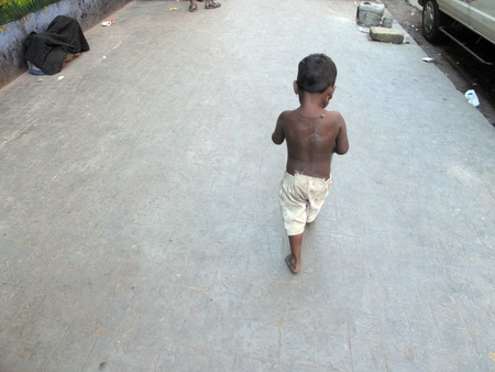 KOLKATA, INDIA -JANUARY 30: Streets of Kolkata. Thousands of beggars are the most disadvantaged castes living in the streets, January 30, 2009.