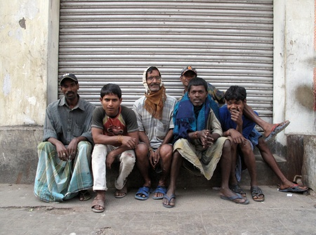 social outcast: KOLKATA, INDIA -FEBRUARY 01: Streets of Kolkata. People live and work on the streets, February 01, 2009.