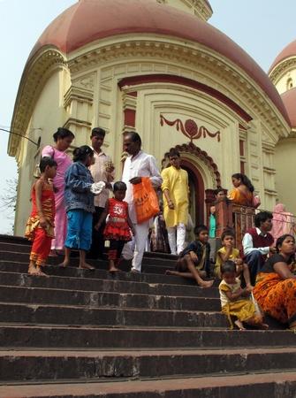 KOLKATA, INDIA - FEBRUARY 02: Hindu temple in Dakshineswar Temple, February 02,2009 in Kolkata, India.