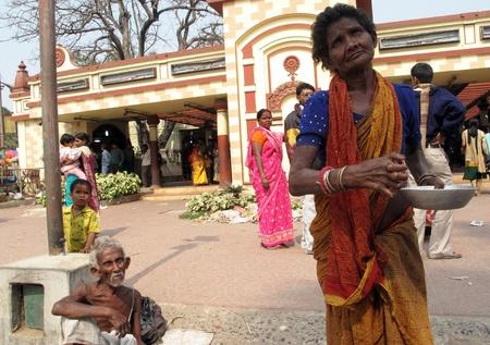 disadvantaged: KOLKATA, INDIA -FEBRUARY 02: Streets of Kolkata. Thousands of beggars are the most disadvantaged castes living in the streets, February 02, 2009.