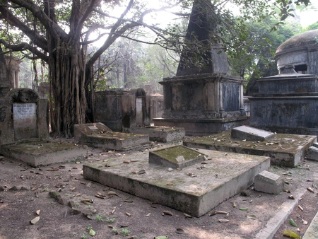 grave site: Park Street Cemetary in the city of Kolkata, India