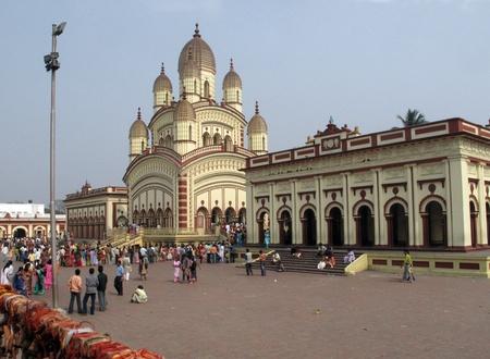 KOLKATA, INDIA - FEBRUARY 02: Hindu temple in Dakshineswar, February 02,2009 in Kolkata, India.