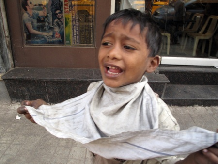 disadvantaged: KOLKATA, INDIA - FEBRUARY 03: Streets of Kolkata. Thousands of beggars are the most disadvantaged castes living in the streets, February 03, 2009.