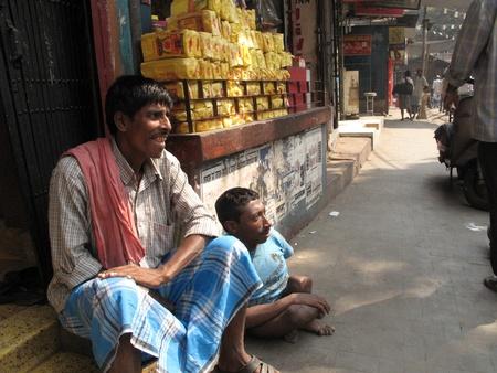underprivileged: KOLKATA, INDIA -FEBRUARY 03: Streets of Kolkata. People live and work on the streets, February 03, 2009.                                Editorial
