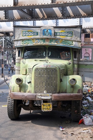 Old rusty truck waits for a new cargo, Kolkata, India