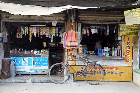 KUMROKHALI, INDIA - JANUARY 12: Old grocery store in a rural place in Kumrokhali, West Bengal, India January 12, 2009. Stock Photo - 10950164