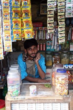KUMROKHALI, INDIA - JANUARY 12: Old grocery store in a rural place in Kumrokhali, West Bengal, India January 12, 2009.