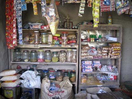 KUMROKHALI, INDIA - JANUARY 18: Old grocery store in a rural place in Kumrokhali, West Bengal, India January 18, 2009.